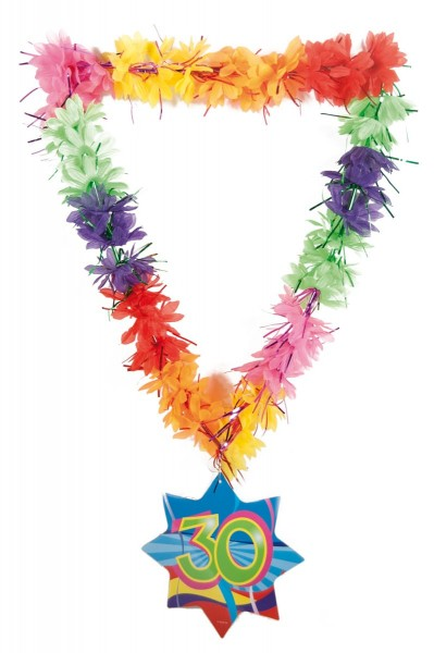 Hawaiian necklace funny tinsel 30