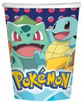 8 Pokémon Meister Pappbecher 250ml