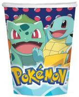 8 Pokémon Meister Pappbecher 250ml