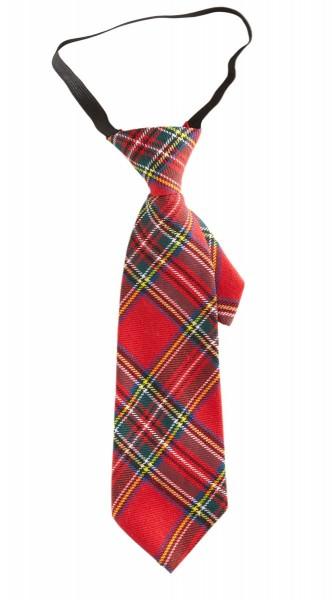Karomuster Party Krawatte Rot