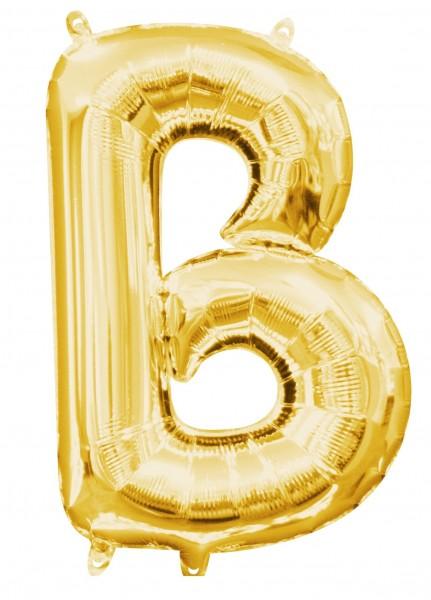 Mini globo foil letra B dorado 35cm