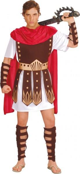 Gladiator Herrenkostüm Mit Umhang Und Schützern