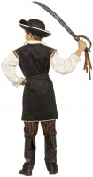 Schwarz-Braunes Piratenkostüm Für Kinder