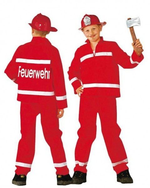 Firefighter Erik Kinderkostuum 2-delig