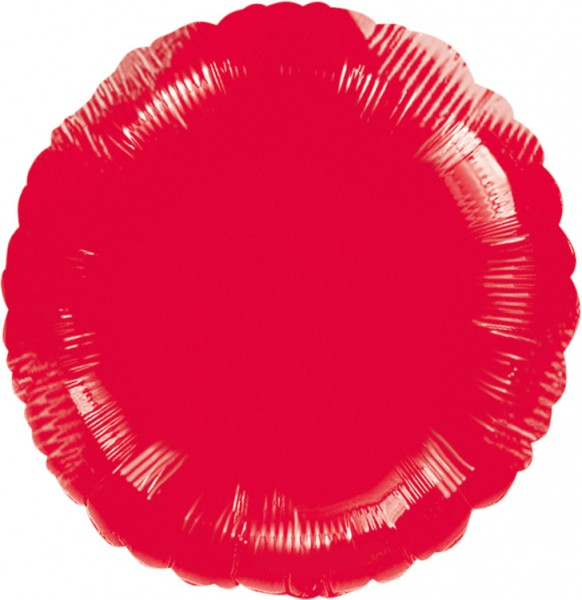 Globo foil redondo rojo 45cm