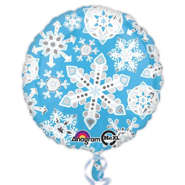 Ballon aluminium flocons tempête 43cm