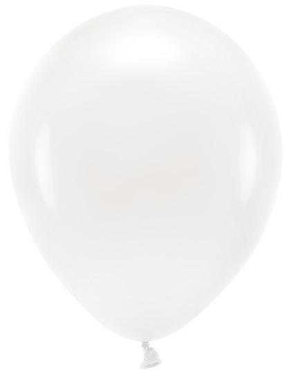 100 ballons éco pastel blanc 30cm