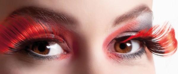 Effie Schwungvolle Wimpern In Rot-Schwarz