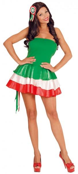 Italy cheerleader ladies costume