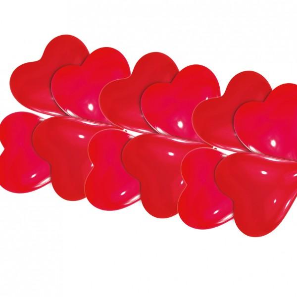 10 globos corazón Harmony rojo 20cm