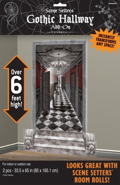 Unheimlicher Geister Korridor Wanddeko 85x165cm