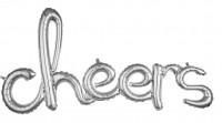 Silberner Cheers Schriftzug 1,01m x 53cm
