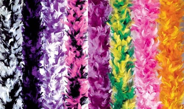 Boa de plumas bicolor colorida en 8 colores 180cm