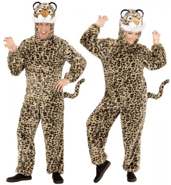 Leoparden Kostüm aus Plüsch Unisex