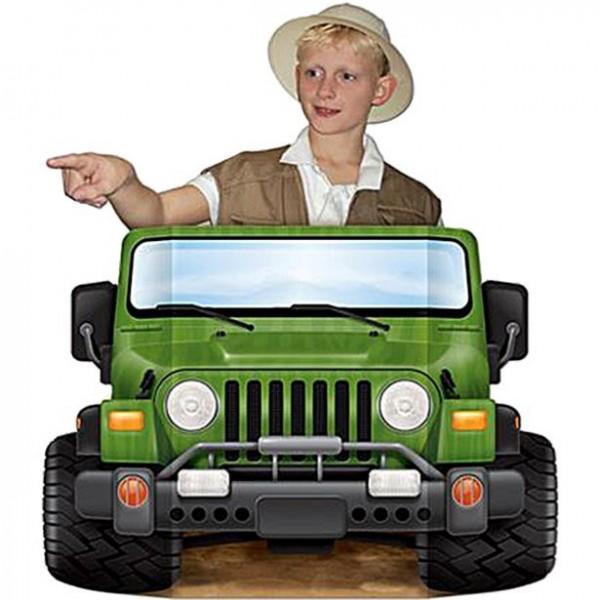 Dschungel Safari Truck Foto Requisite 94 x 64cm