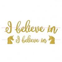 I Believe in Unicorns Girlande 3,65m
