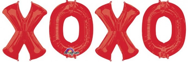 Conjunto de globos Letras XOXO
