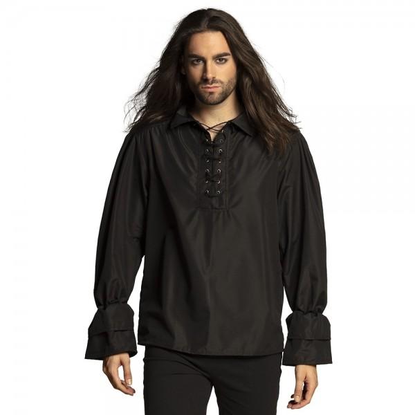 Chemise pirate Alexandro pour homme noir