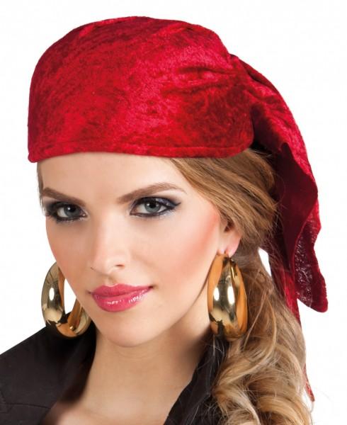 Freibeuter Piratenbraut Kappe Rot