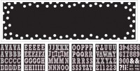 Personalisierbares Black & White Party Banner 165cm