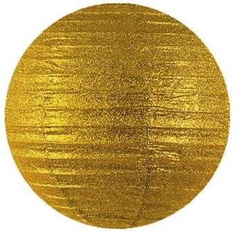 Farolillo con purpurina Lilly dorado 25cm