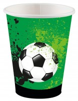 8 Fußball Game Time Pappbecher 250ml