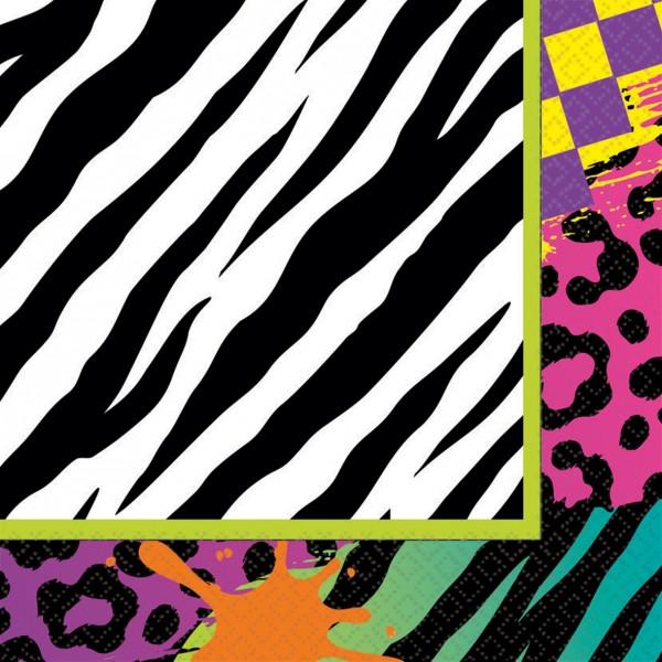 Set di 16 tovaglioli anni '80 Be Colorful 33x33cm