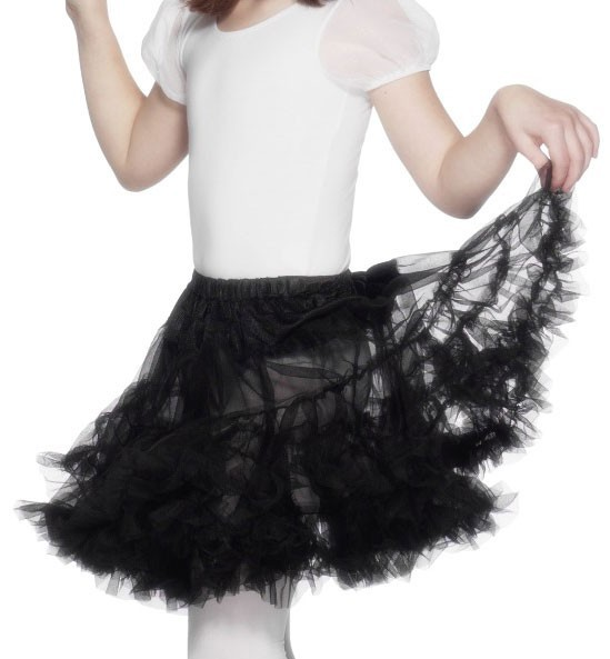 Small black tulle skirt for children