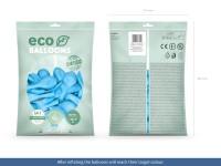100 Eco Pastell Ballons hellblau 30cm