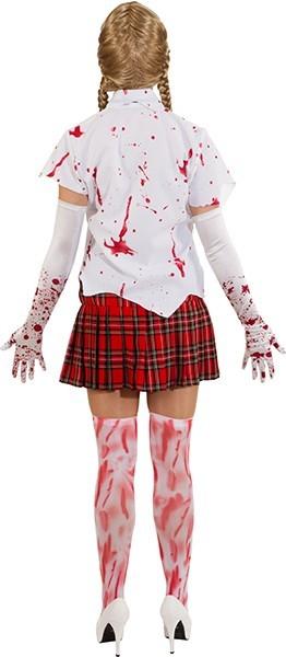 Blusa blanca con salpicaduras de sangre