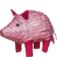 Schweinchen Pinata rosa 47cm
