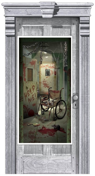 Horror Psychiatrie Türposter 1,65m x 85cm