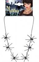 Halskette Spinnen Schwarz 60cm