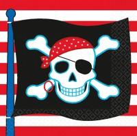 16 Piraten Party Servietten Schrecken der See