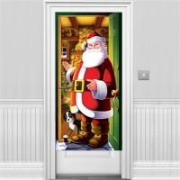 Weihnachtsmann Türdeko 1,5m