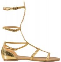Goldene Römer-Sandalen Damen