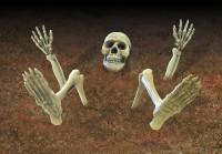 Schaurige Skelett Gartendeko 9-teilig