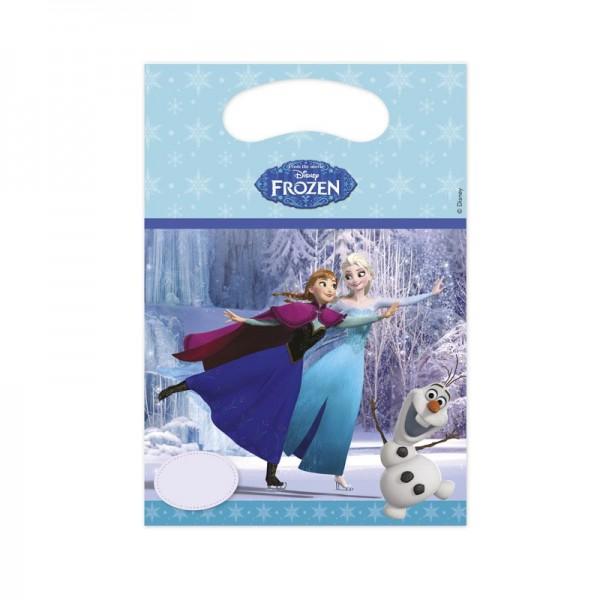 6 Frozen Winterwald Geschenktüten 16 x 23cm