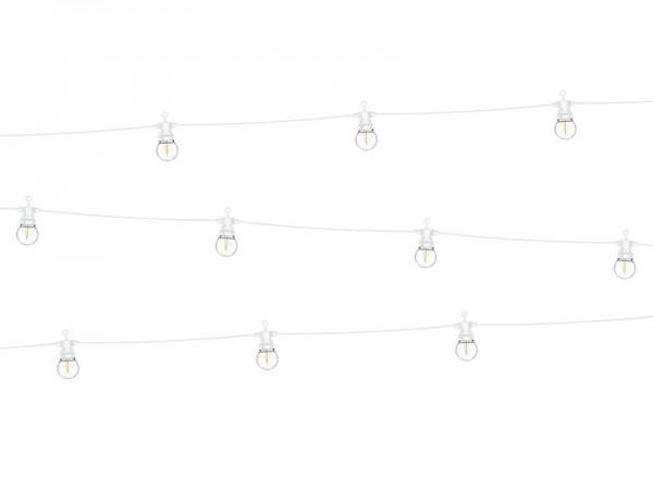 Weiße Retro LED Lichterkette 5m