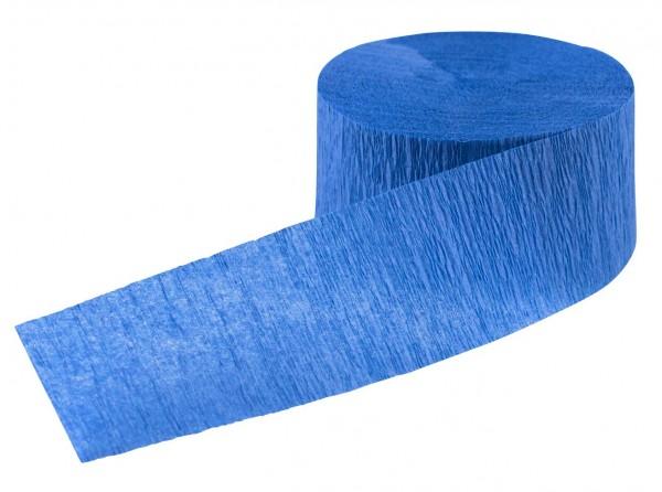 Partyspaß Krepp Luftschlange saphirblau 24m