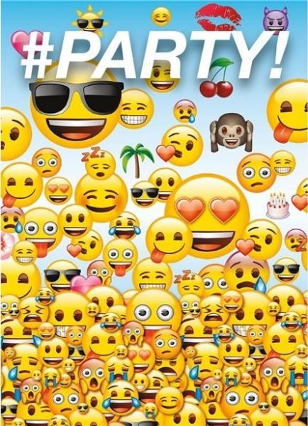 8 Emoji Party Einladungskarten