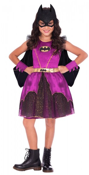 Purple Batgirl Lizenz Kostüm für Mädchen