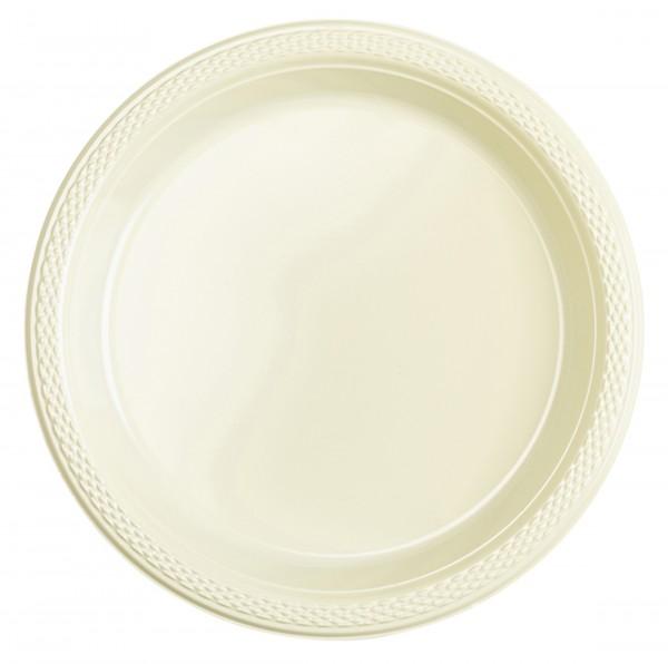 20 Kunststoff Teller Mila vanille 18cm