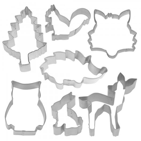 7 emporte-pièces animaux de la forêt