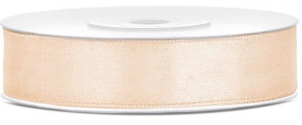 25m Satin Geschenkband creme 12mm breit