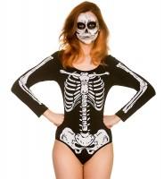 Corps squelette noir et blanc