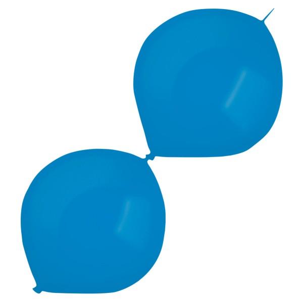 50 Metallic Girlandenballons blau 30cm