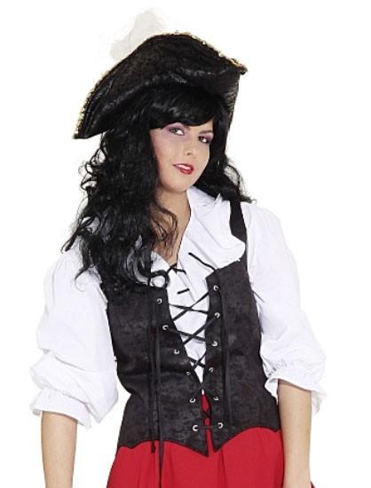 Corsage pirate noir
