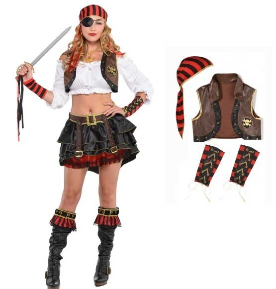 Pirate set 3 pieces for women