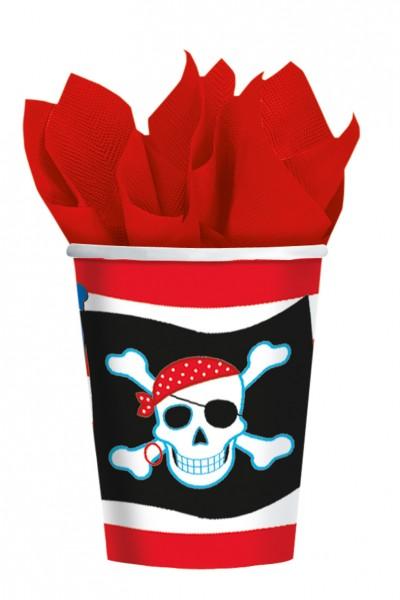 8 terrores del mar Party paper cup 266ml